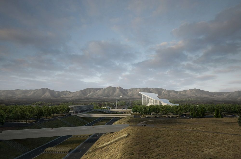 A rendering of the proposed Air Force Academy Visitor Center complex.