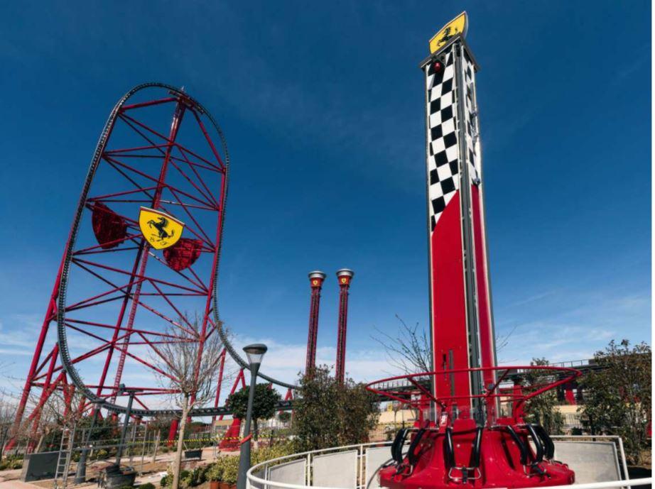 Junior Red Force roller coaster at Ferrari Land Kids' Area