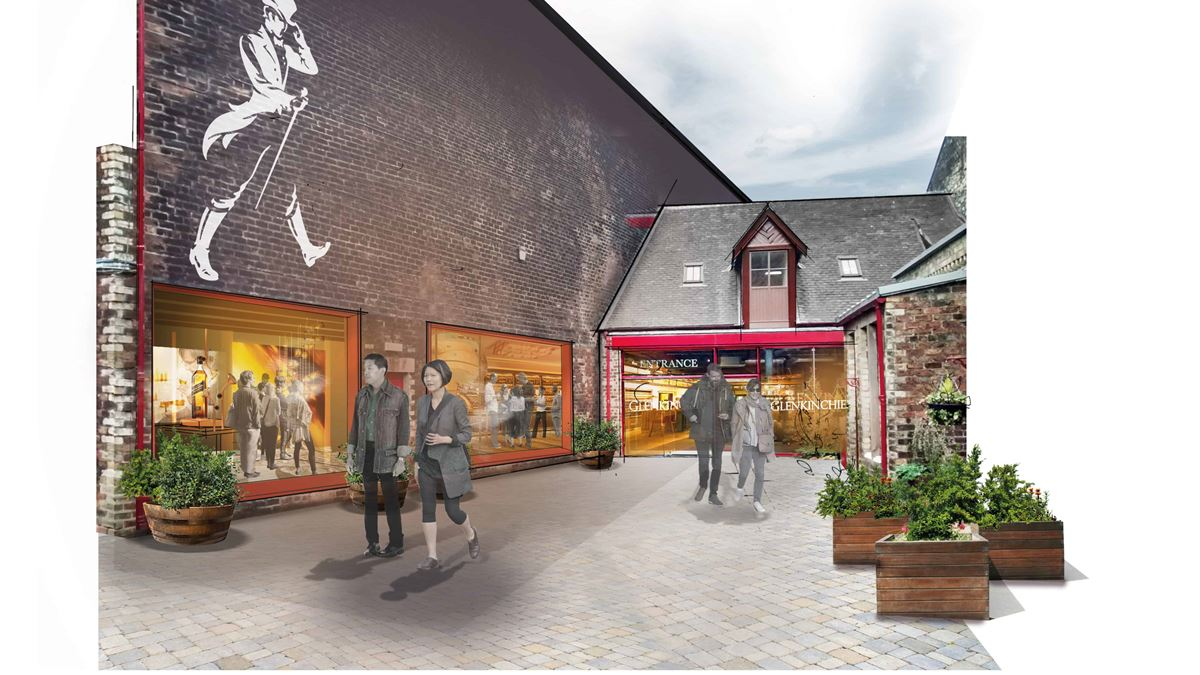 Artist impression of the improved Glenkinchie distillery visitor experience.