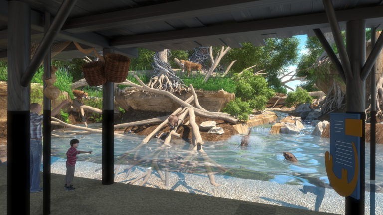 A rendering of the Pantanal - Trail of the Jaguar exhibit coming in 2020.