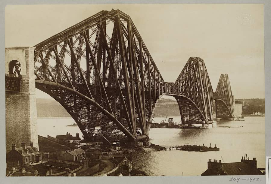 Forth Bridge photograph 1889 V&A museum