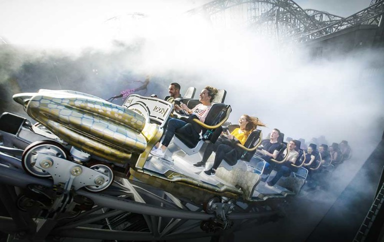 ICON rollercoaster from Mack rides at Blackpool Pleasure Beach