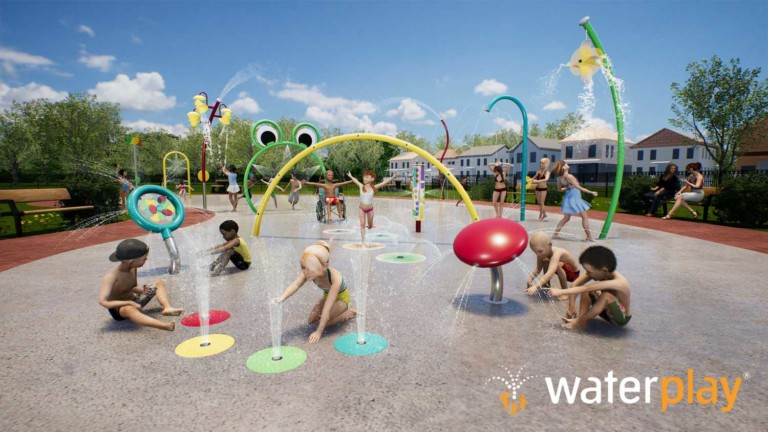 Kaleidoscope Collection splash pad elements- Waterplay solutions