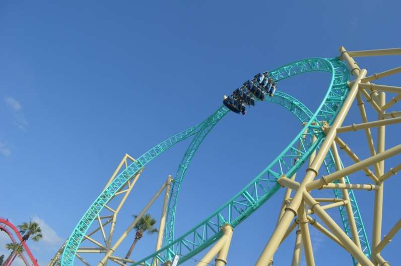 hangtime coaster loop supplied by ride entertainment
