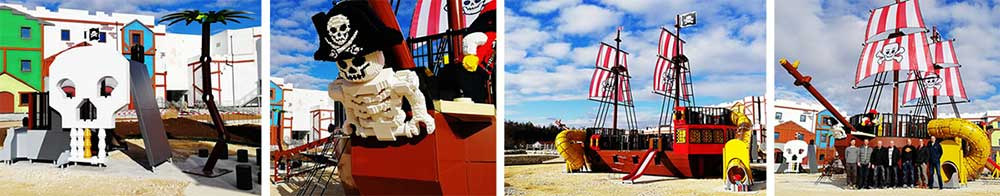 Lappset Creative design and supply Pirate Ship wooden themed playground for LEGOLAND