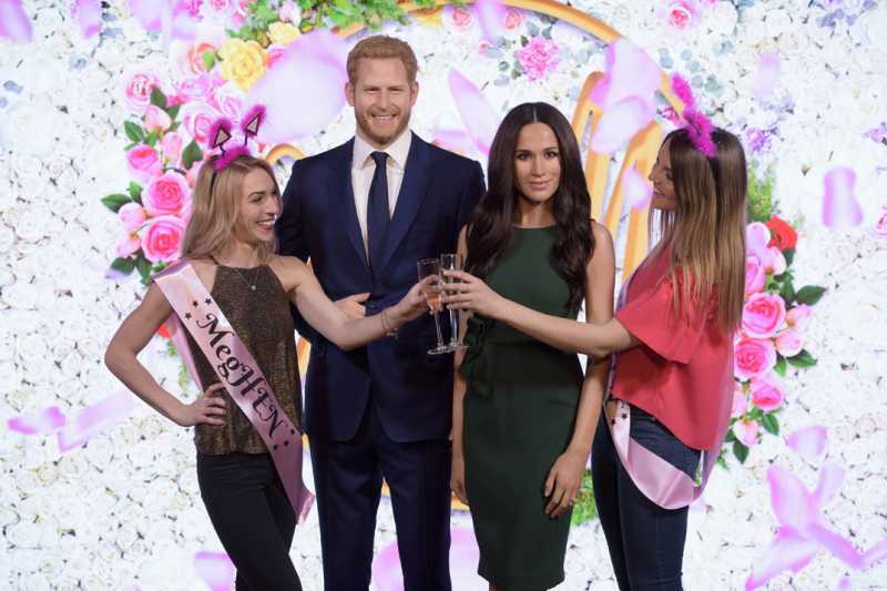 meghan markle prince harry madame tussauds london stag and hen party