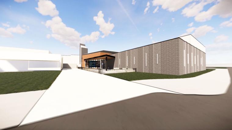 A design drawing of the Cibolo Crossing family entertainment centre. Image: c. Santikos Entertainment.