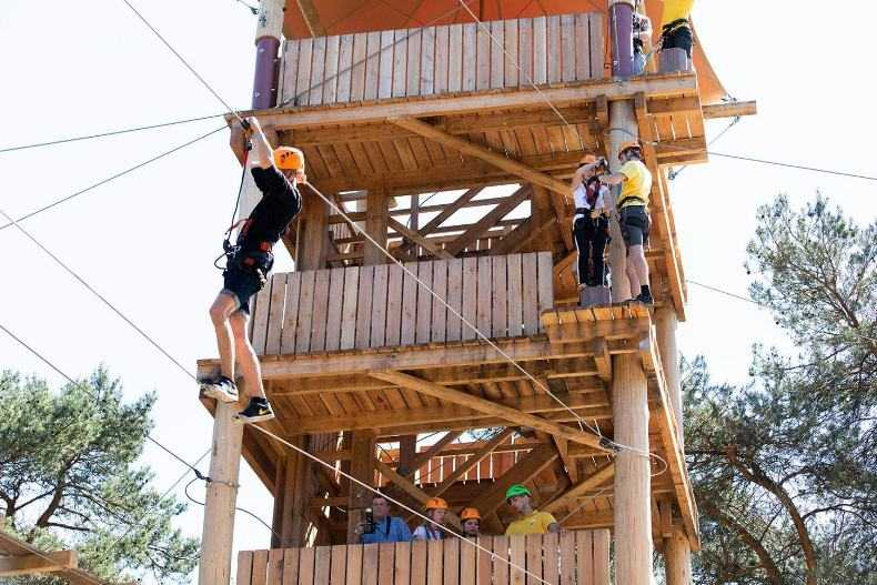 zilvermeer central tower and obstacle course