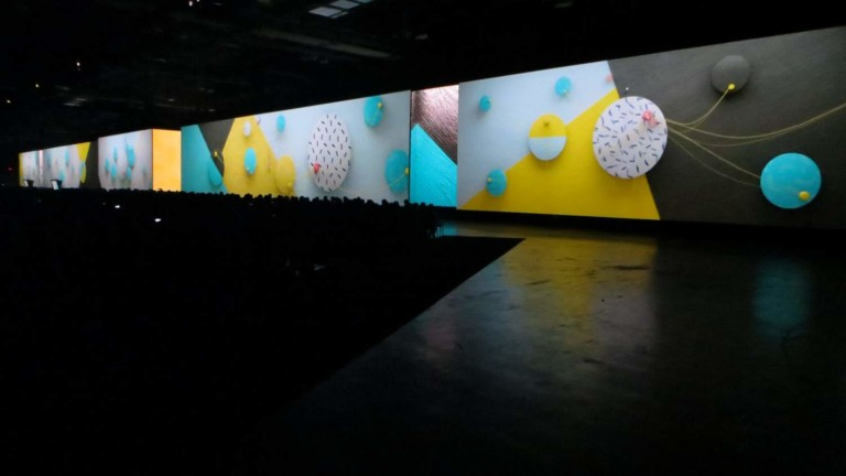 panoramic visuals powered by christie spyder X80 processor at adobe summit 2018