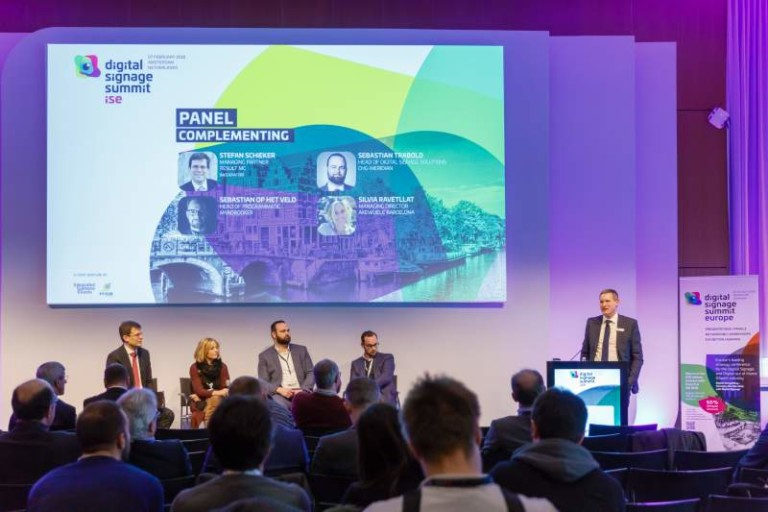 DSS Europe panel Digital Signage Summit