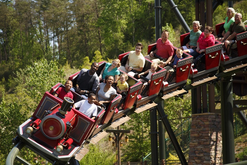 firechaser express dollywood rollercoaster