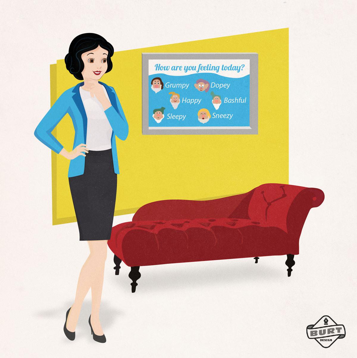 Disney Princess Snow White psychotherapist role model