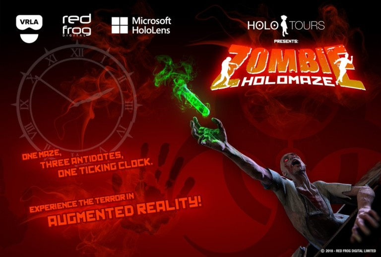 red frog ar zombie holomaze experience at VRLA