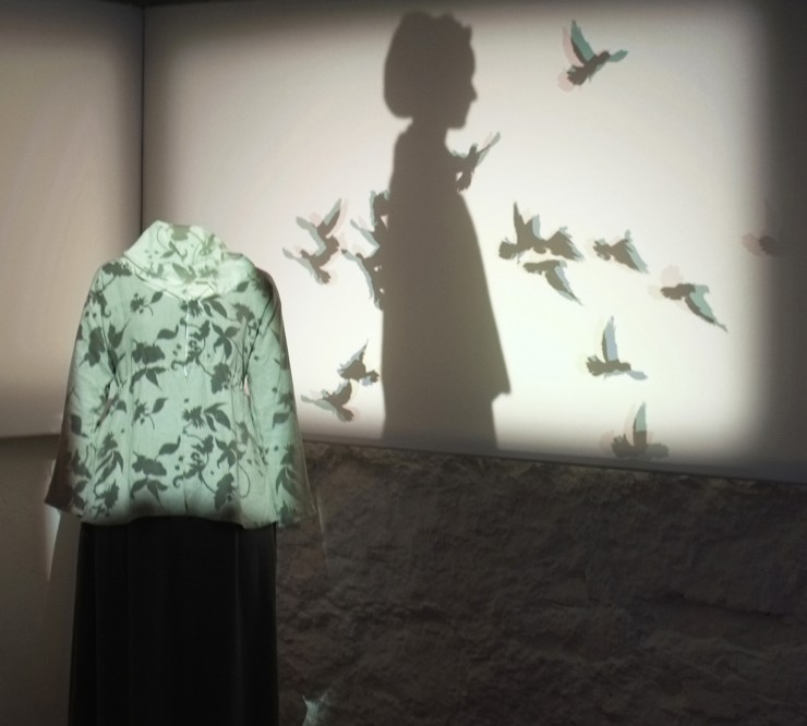 shadows evoke sally hemings at new gsm project installation, monticello