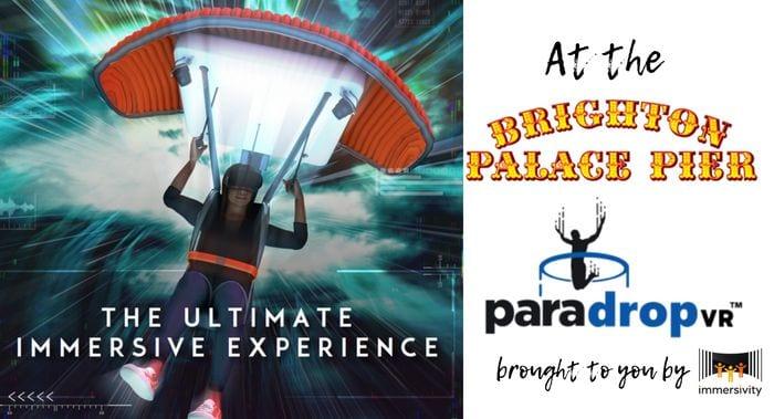 paradrop vr paragliding experience brighton palace pier