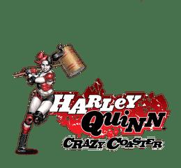 harley quinn crazy coaster logo
