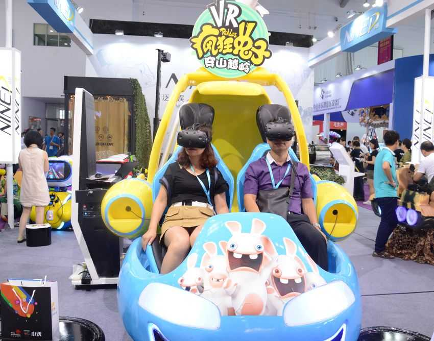 Raving Rabbids VR at Games and Amusement Fair