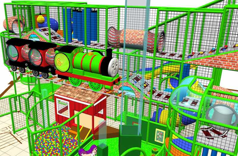 Renderings for iplayCo Thomas and Friends Mattel Play Town Dubai