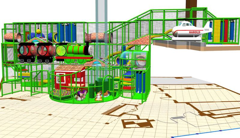 Renderings by iPlayCo for Thomas and Friends Mattel Play Town Dubai