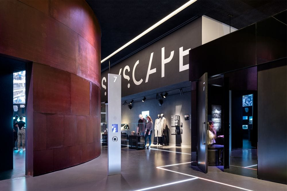 Entrance to SPYSCAPE, an immersive espionage museum