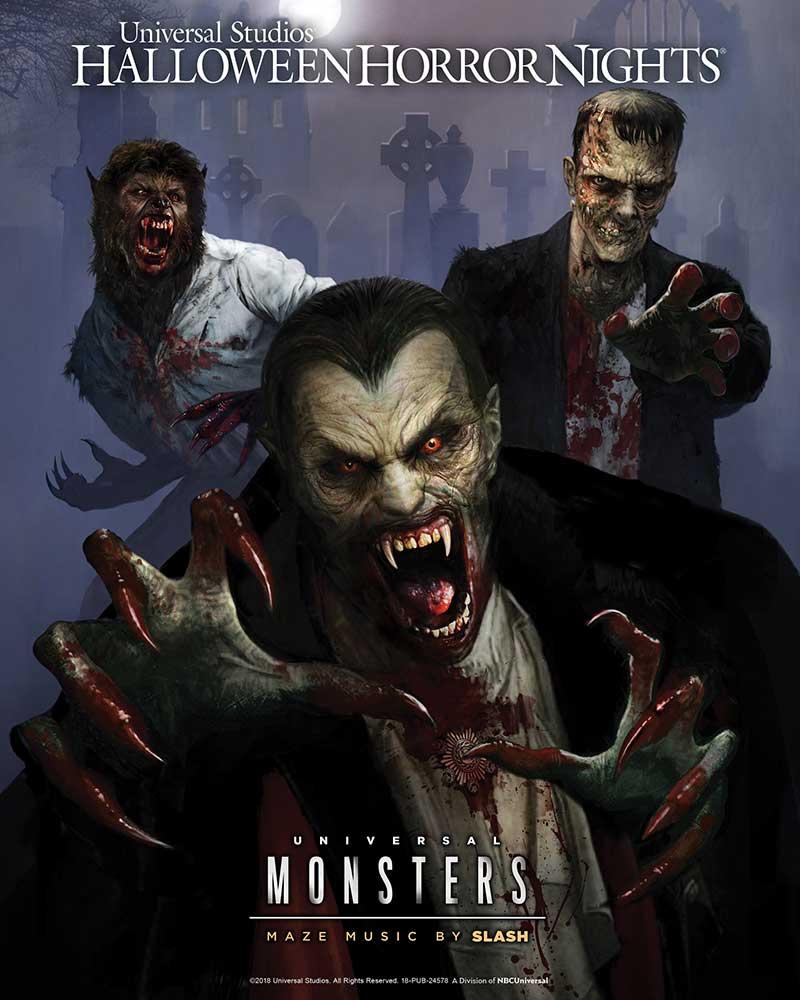 universal monsters maze horror nights