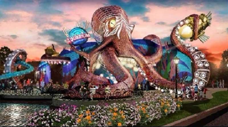 artist impression of the aquarium on the boardwalk - branson aquarium projects