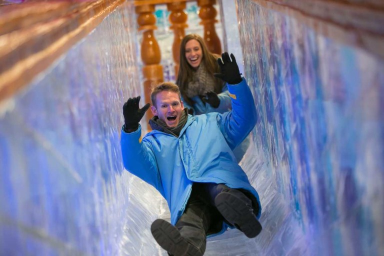 ICE slide christmas at gaylord palms