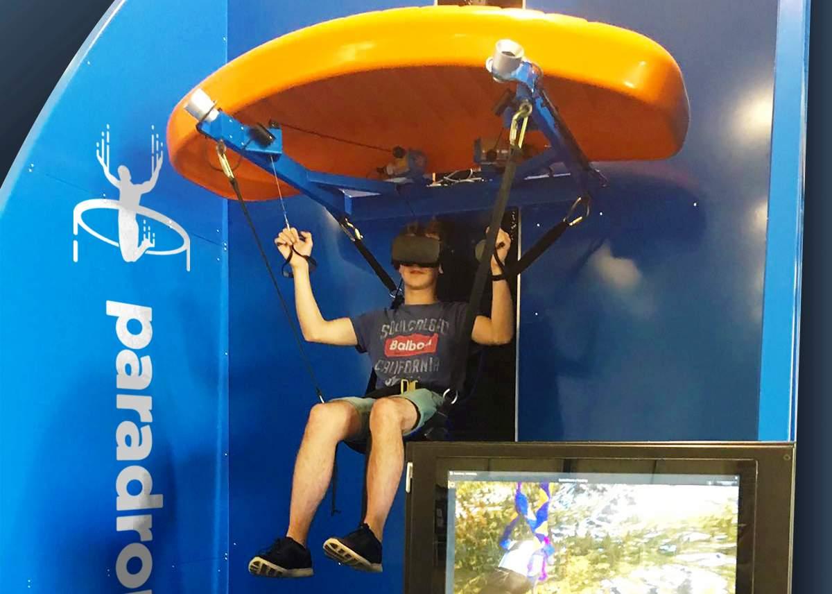 paradropVR at unverse science park - a virtual paragliding experience