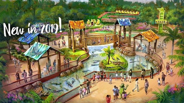 Wild Adventures Theme Park's new gator themed area in 2019