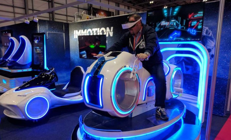 man on leke vr ride immotion group