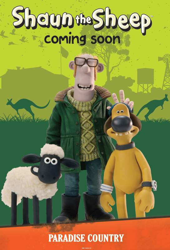 poster for shaun the sheep attraction paradise country australia