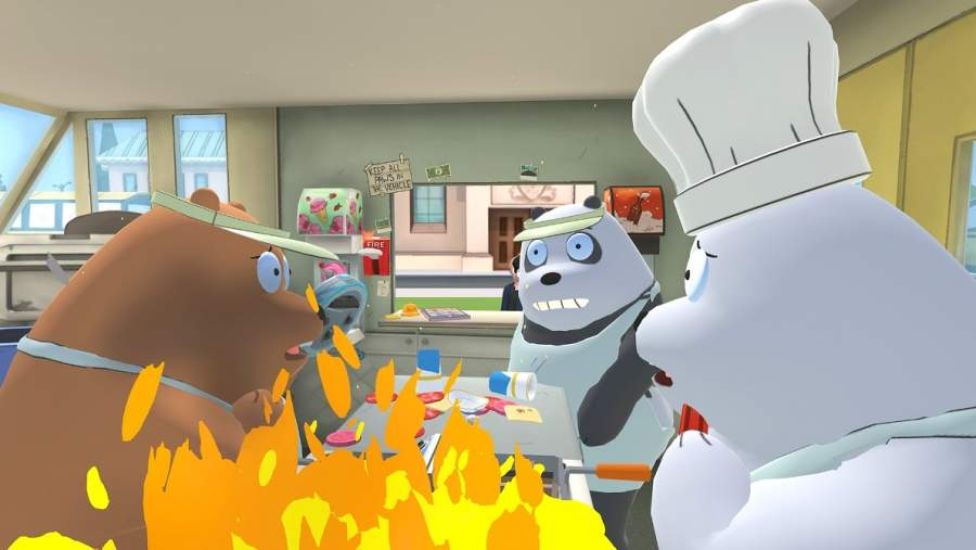 we bare bears food truck on fire