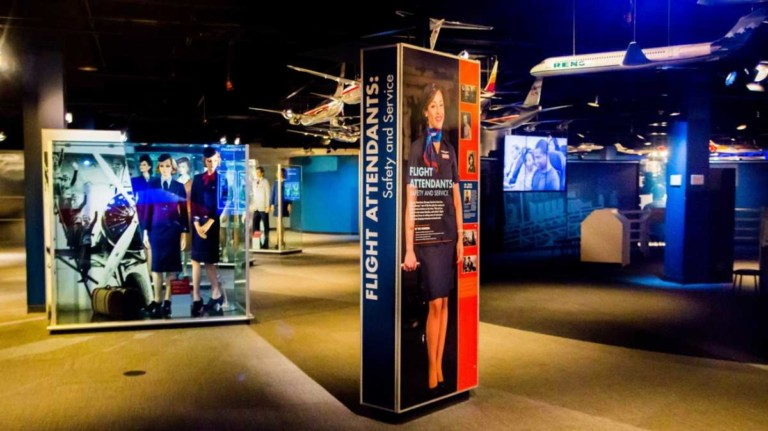 american airlines cr smith museum flight attendant display