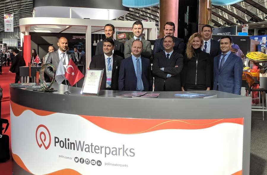 Polin waterparks team at EAS 2018.