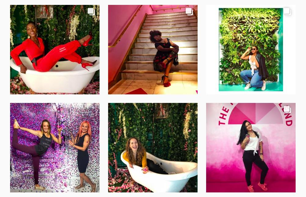 influencers Pop-up attractions instagrammable.