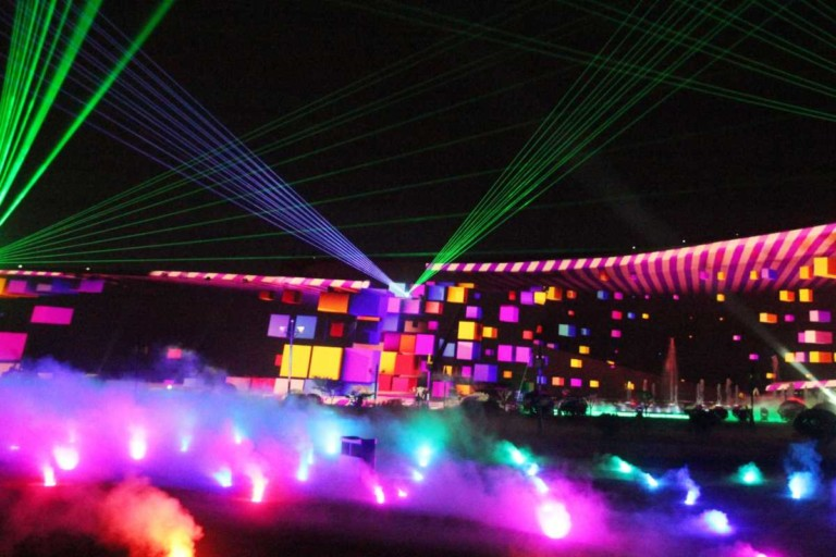 dongyi cultural museum laser show powered by christie