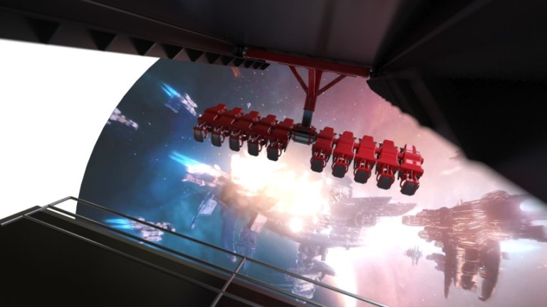 """Holovis has launched a patented attraction concept that it claims """"re-volves"""" the flying theatre experience. L"""
