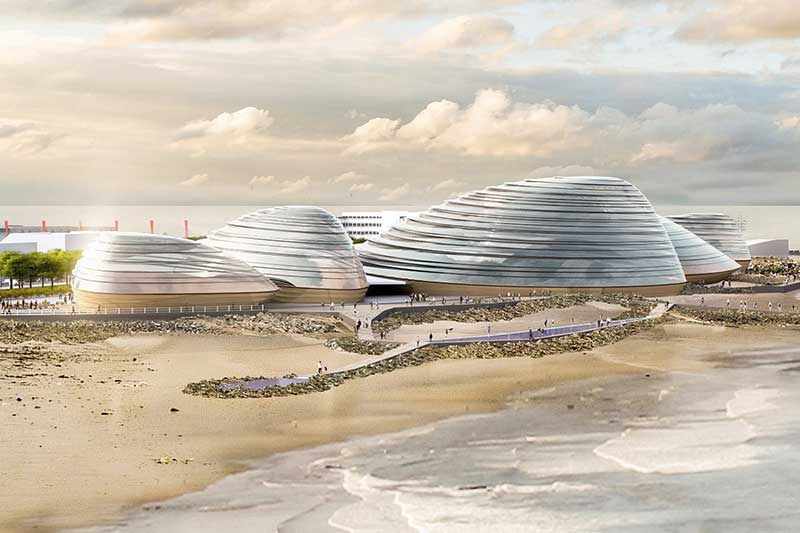 Eden Project North designs at Morecambe, Lancashire by Grimshaw