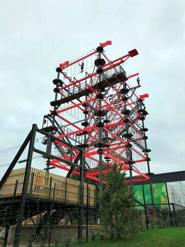innovative leisure high ropes course at bear grylls adventure