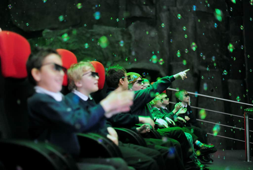 Kids in Simworx 4D Cinema