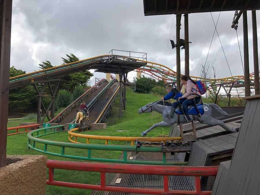 Steeplechase ride at Blackpool Pleasure Beach