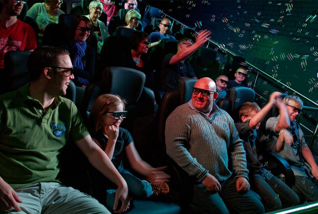 People enjoying Simworx 4D Cinema
