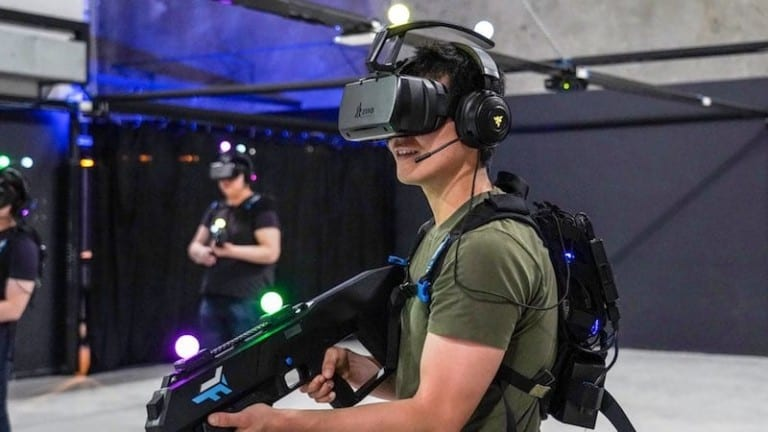 Zero Latency Player with headset