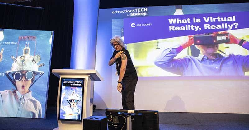 Bob Cooney talks VR at attractionsTECH by blooloop at ISE 2019