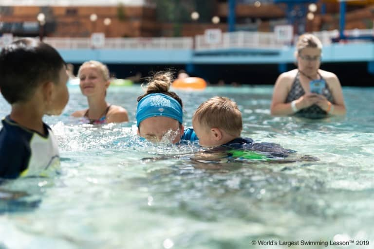 World's Largest Swimming Lesson at the West Edmonton Mall, Canada