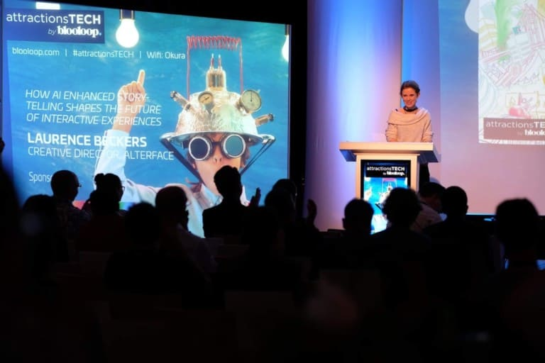 laurence beckers alterface speaks at attractionsTECH conference ise 2019