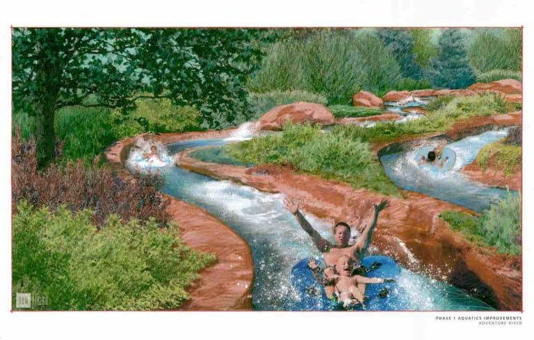 Adventure River Rendering by DHM Design at Glenwood Hot Springs