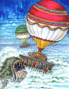 Concept art by Valerio Mazzoli for Balloon Fly 360 Intamin project syntropy