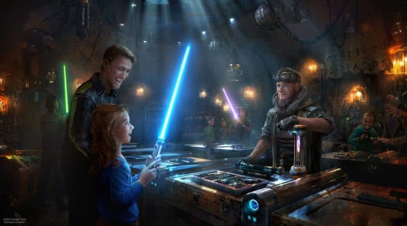 Build your own lightsaber at Star Wars: Galaxy's Edge wait times