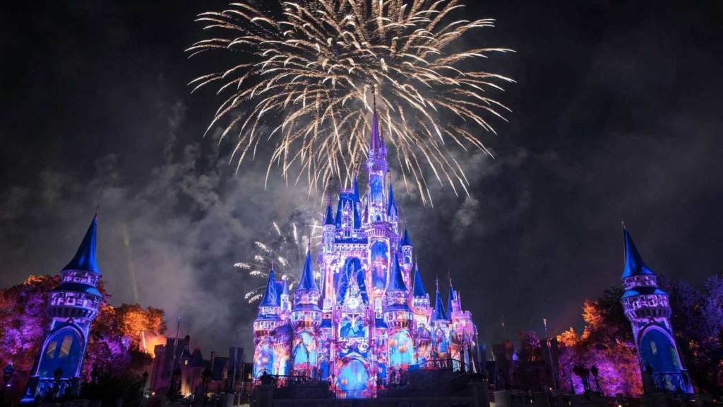 Happily Ever After fireworks at Magic Kingdom, number one on the list of the world's top theme parks of the decade